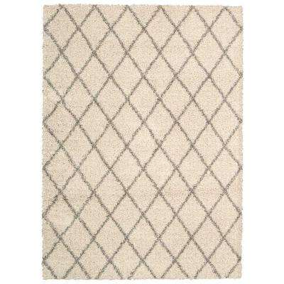 Brisbane Shag Cream 8 ft. 2 in. x 10 ft. Area Rug