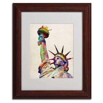 11 in. x 14 in. Statue of Liberty Matted Framed Art