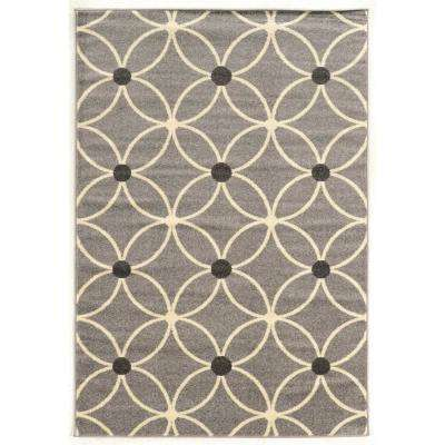 Claremont Cylinder Grey and Cream 2 ft. x 3 ft. Area Rug