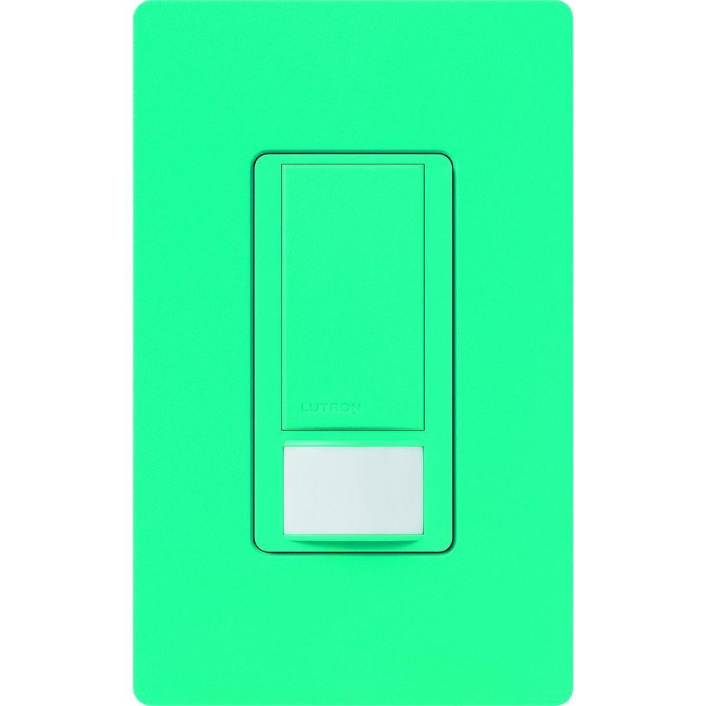 Maestro Dual Voltage Motion Sensor switch, 6-Amp, Single-Pole, Turquoise