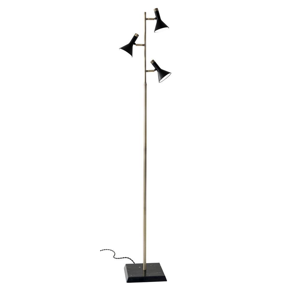 a154dd270c6 Adesso Bennett 62 in. Integrated LED Black Brass Floor Lamp-3289-01 ...