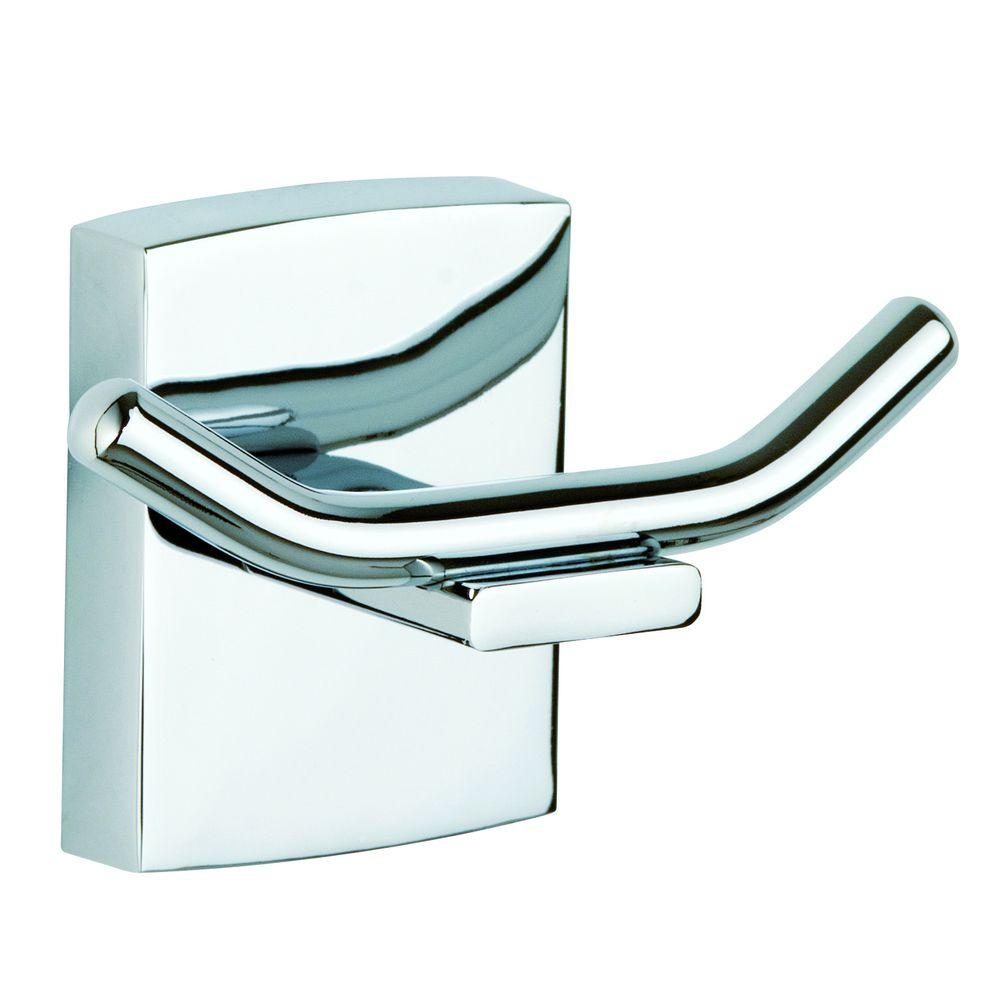 No Drilling Required Klaam Double Robe Hook In Chrome