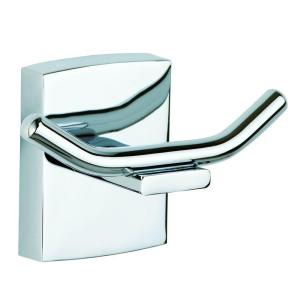No Drilling Required Klaam Double Robe Hook in Chrome by No Drilling Required