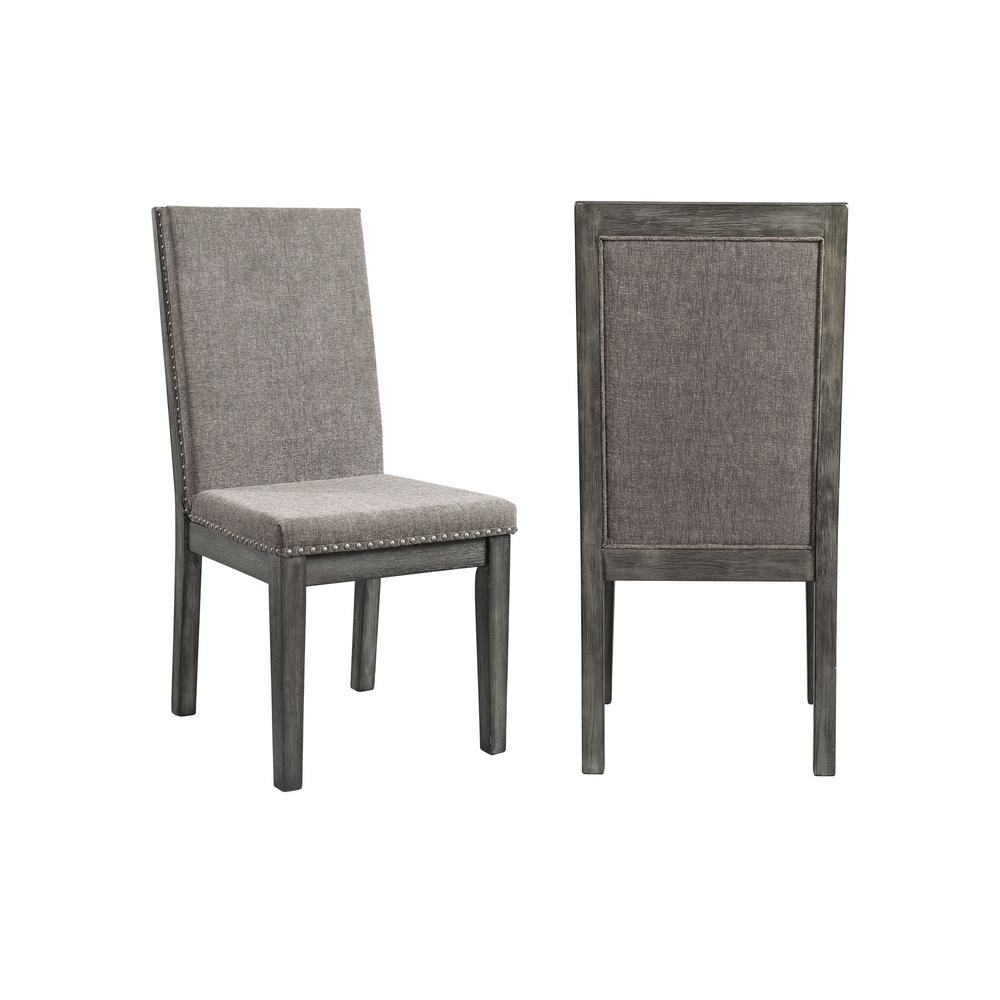 Picket house furnishings austin grey upholstered dining chair set of 2