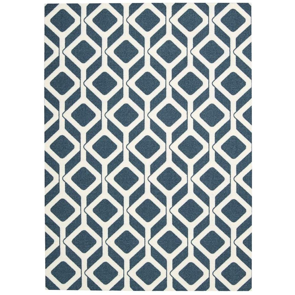Nourison Enhance Cadet Blue 8 ft. x 10 ft. Area Rug