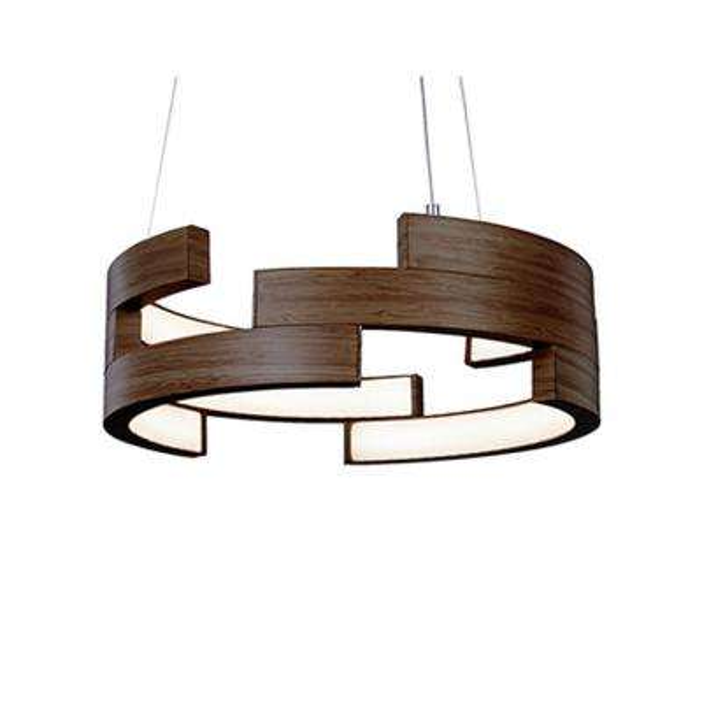 Kara 1-Light 60-Watt Equivalence Walnut Integrated LED Pendant