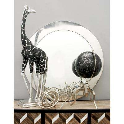 34 in. Modern Metal Wall Mirror with Gold Circular Frame