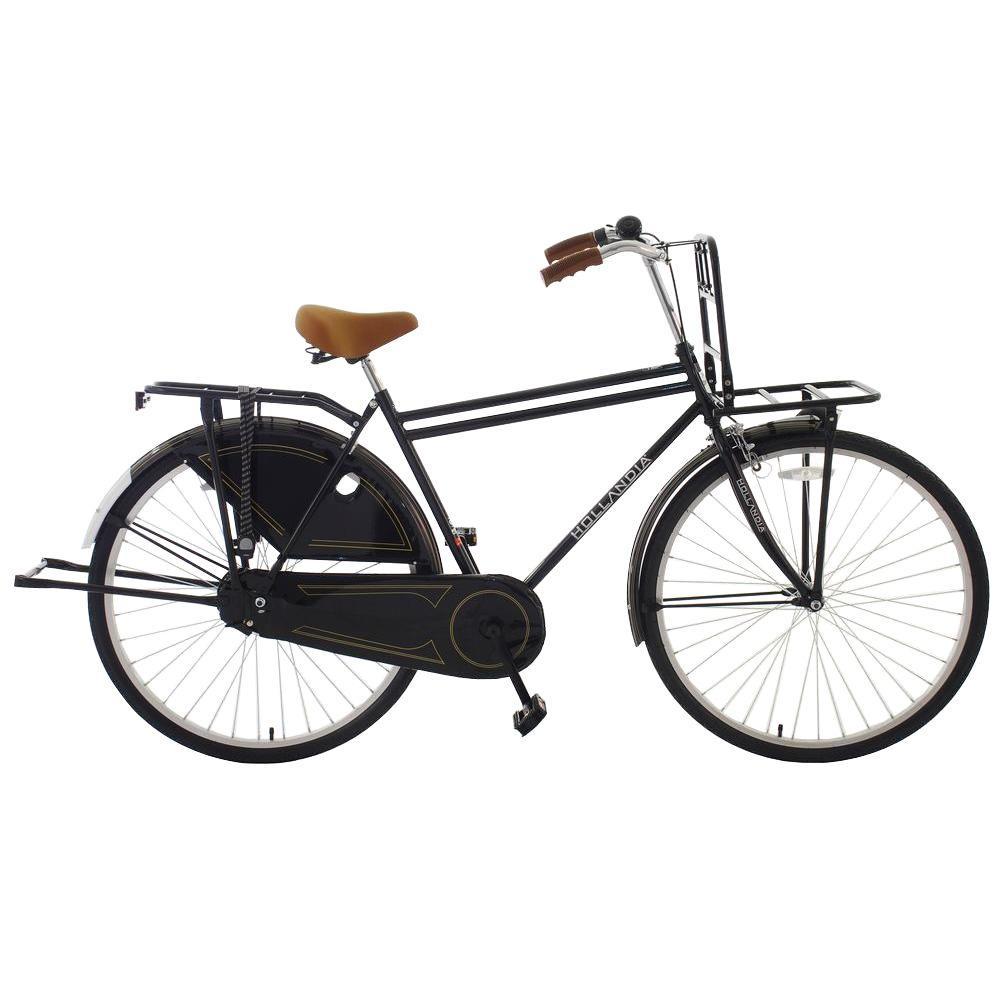 Hollandia Opa Dutch Cruiser Bicycle, 28 in. Wheels, 18 in. Frame, Men's Bike in Black