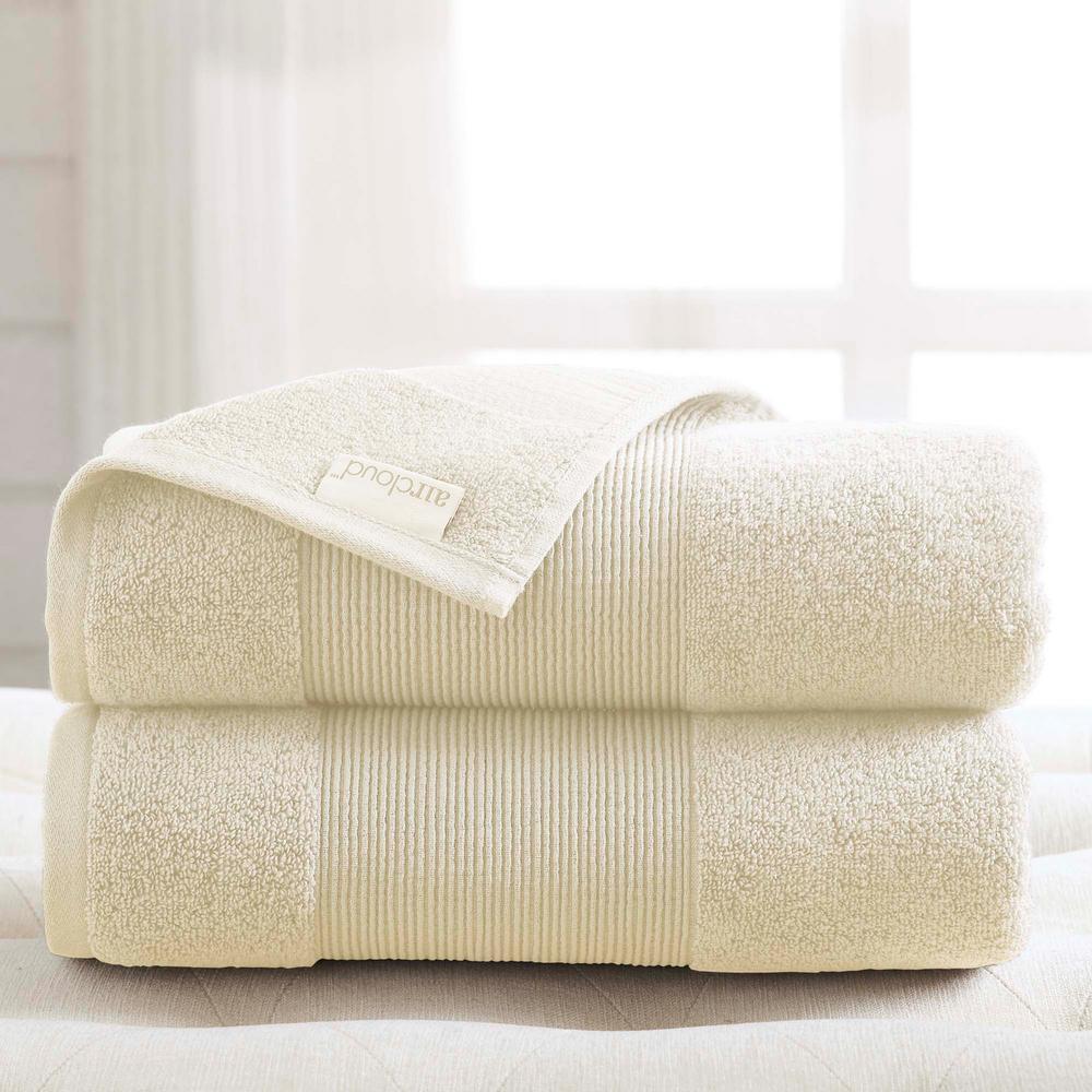 Air Cloud 2-Piece Ivory Oversized Bath Sheet
