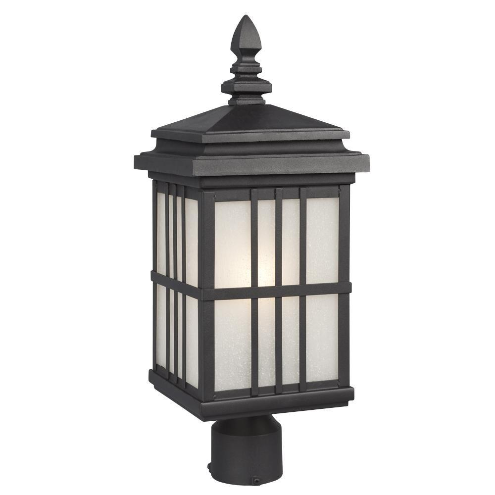 Filament Design Negron 1-Light Outdoor Black Post Lantern