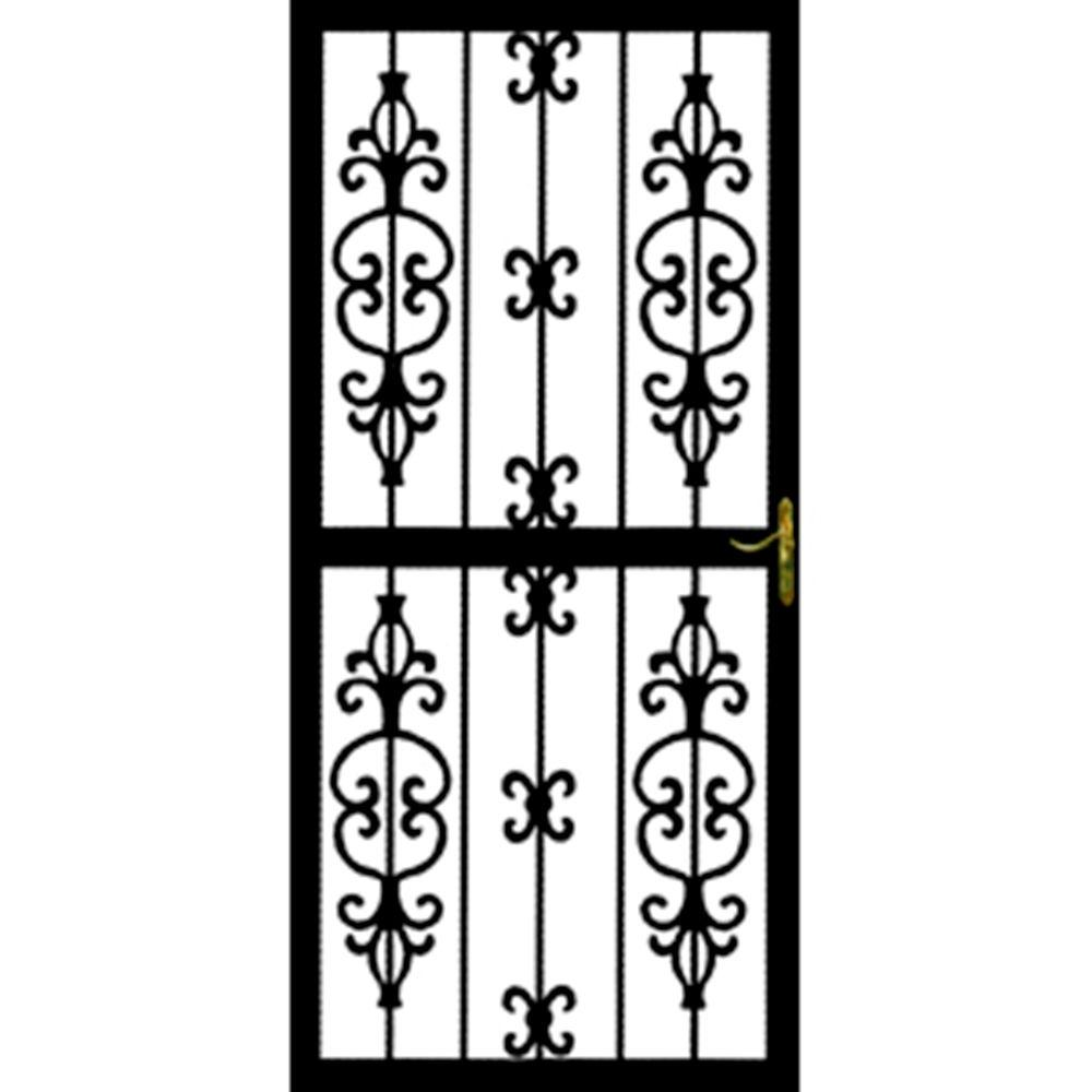 Grisham 36 in. x 80 in. 307 Series Black Hilton Security Door