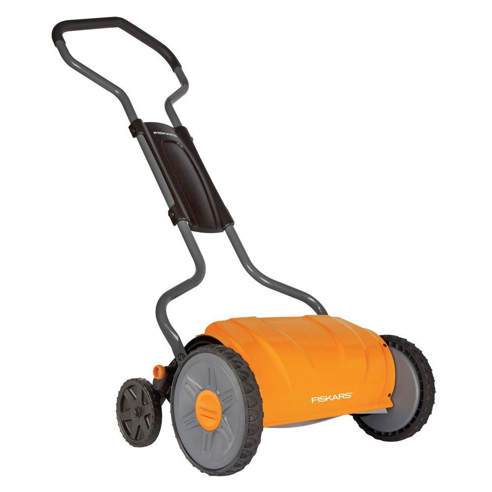 Greenworks 16 in. 10 amp corded electric walk behind push mower.