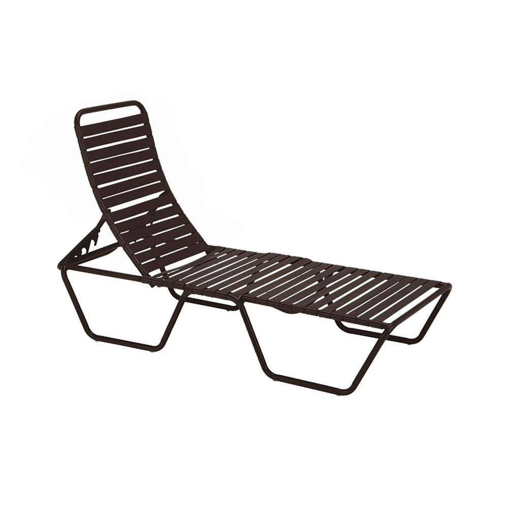 Tradewinds Milan Java Commercial Patio Chaise Lounge