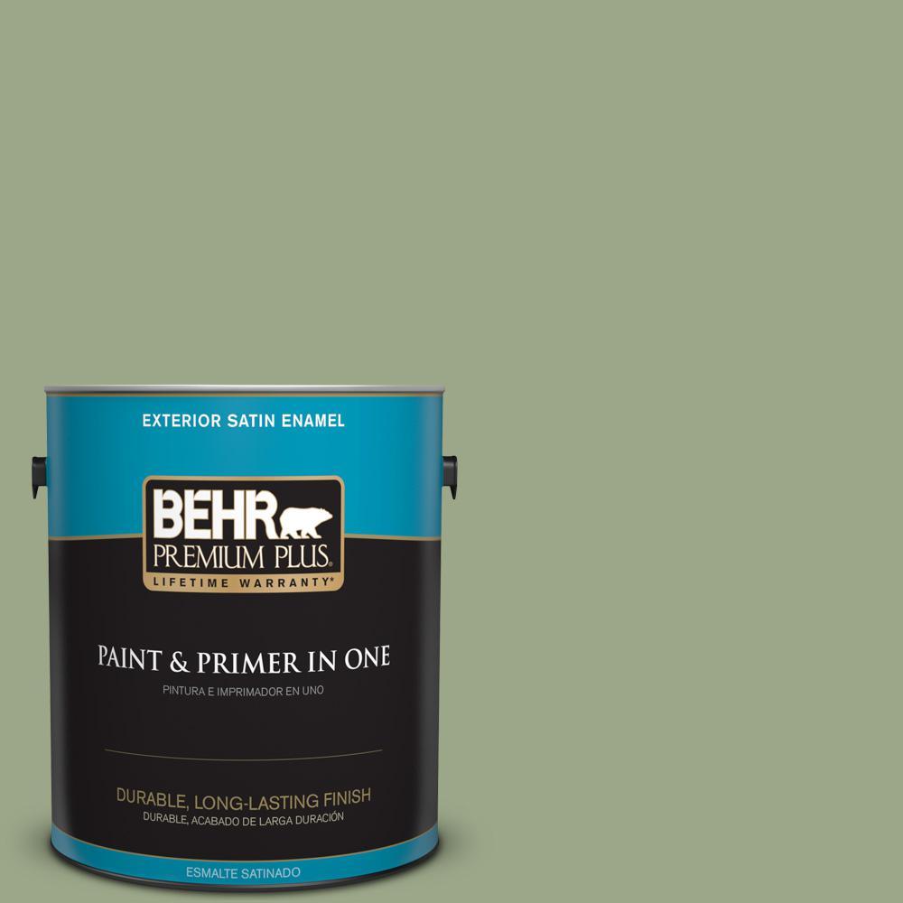 1 gal. #PPU11-07 Clary Sage Satin Enamel Exterior Paint