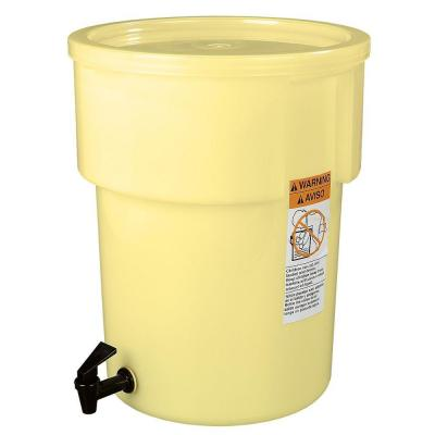 5 gal. Polyethylene Round Beverage Dispenser with Lid and Faucet in Yellow