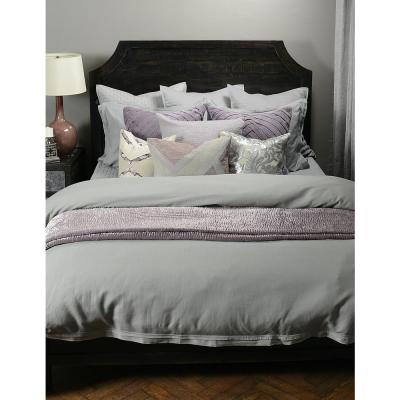 Harlow Gray Solid Queen Linen Duvet Cover