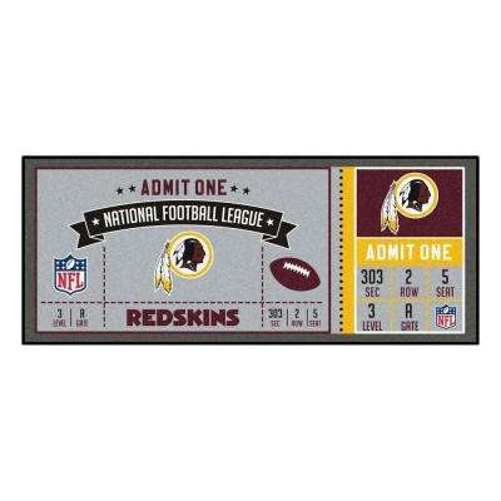NFL - Washington Redskins 30 in. x 72 in. Indoor Ticket Runner Rug