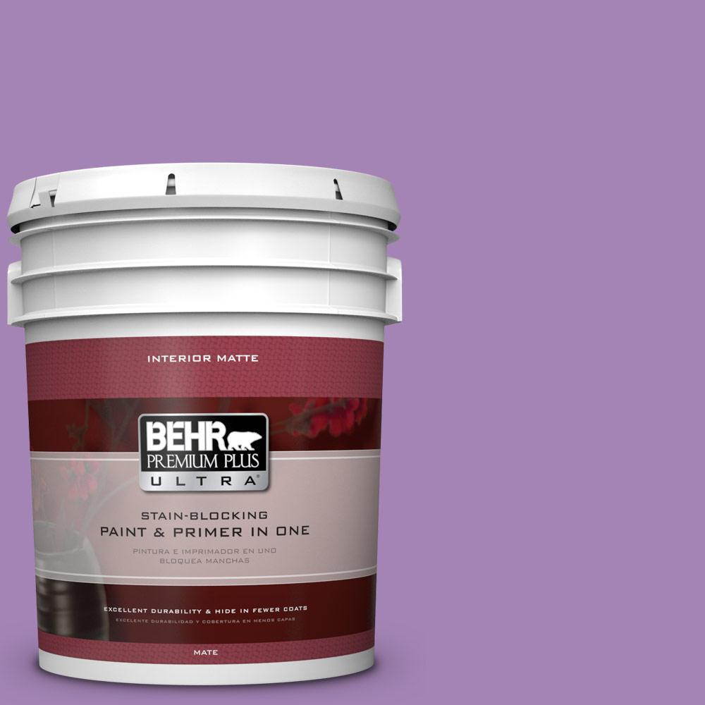BEHR Premium Plus Ultra 5 gal. #660B-6 Daylight Lilac Flat/Matte Interior Paint