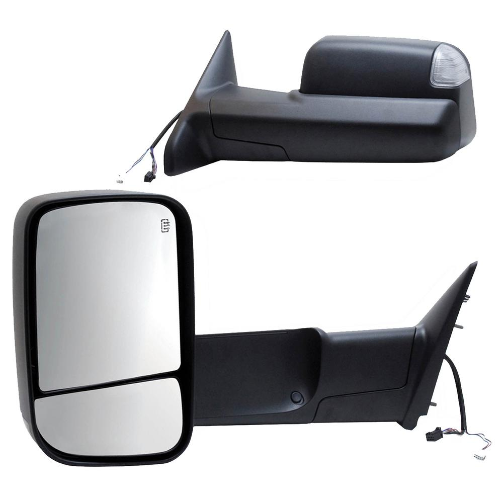 Towsmart Heavy Duty Clip On Towing Mirror 1202 The Home Depot 2006 Subaru Outback Wiring For 00 05 Ford Excursion 01 07 F250 F350