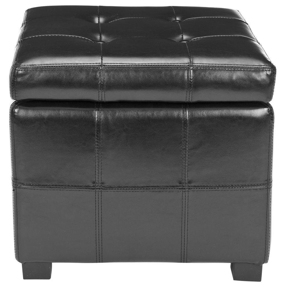 Kerrie Black Storage Ottoman