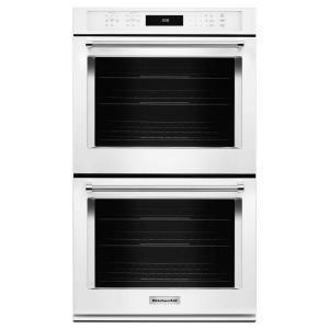 KitchenAid 30 In. Double Electric Wall Oven Self Cleaning With Convection  In White KODE500EWH   The Home Depot