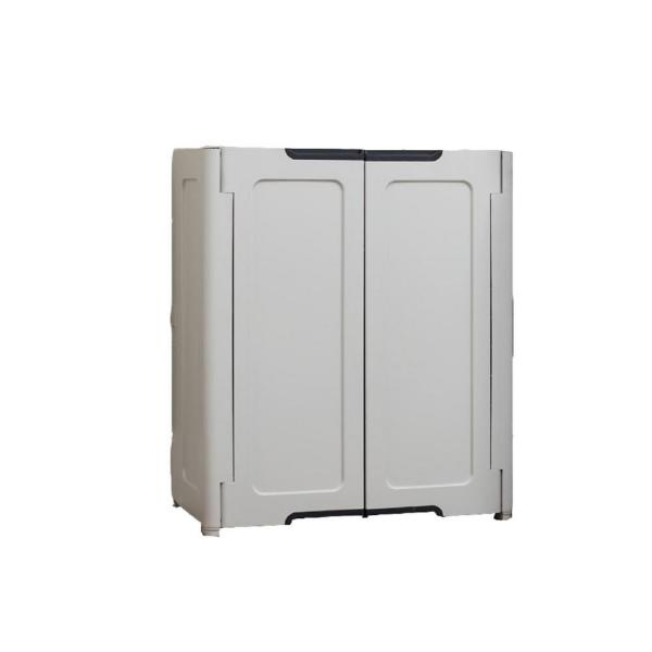 36 in. H x 30 in. W X 19 in. D Stackable Utility Base/Wall Freestanding Cabinet in Light Grey