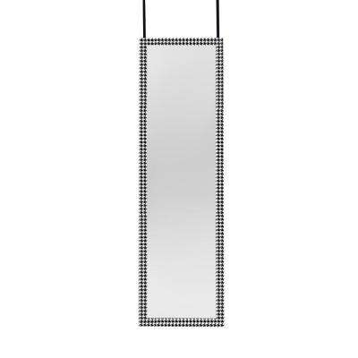 W Over The Door Or Wall Mounted Framed Mirror In Hounds Tooth