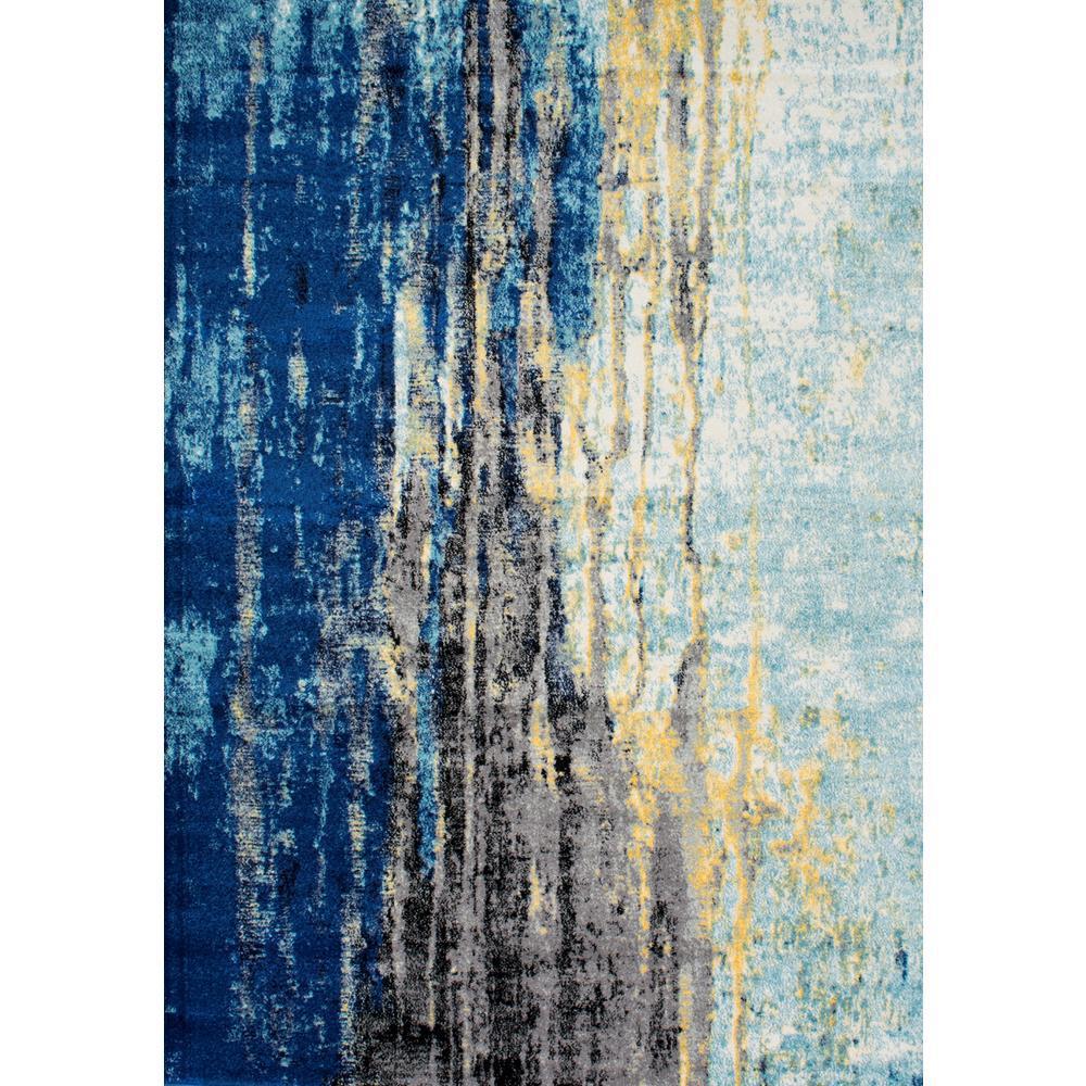 Katharina Modern Abstract Blue 5 ft. x 8 ft. Area Rug