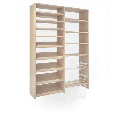 72 in. H x 50 in. W Chai Latte Garage Baskets and Shelving Storage Kit