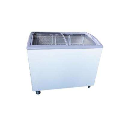 7.4 cu. ft. Chest Freezer with Curved Glass Top in White