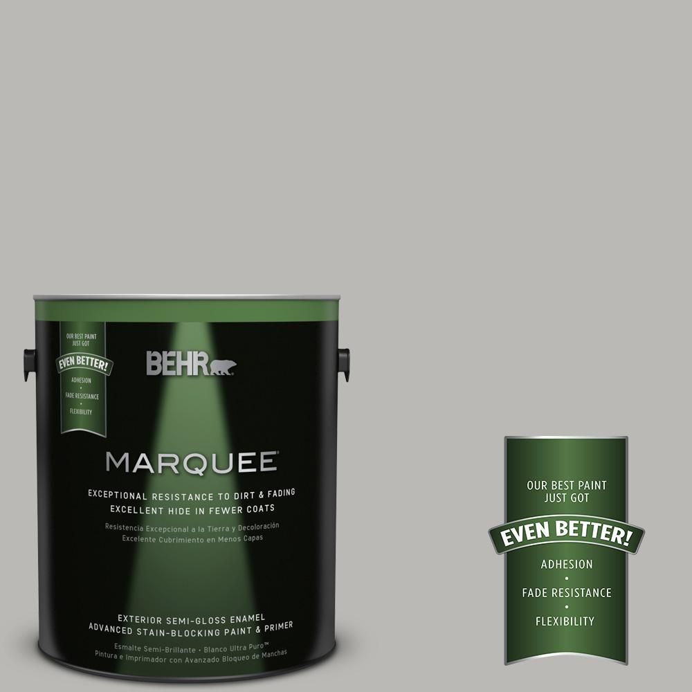 BEHR MARQUEE 1-gal. #PPU18-11 Classic Silver Semi-Gloss Enamel Exterior Paint