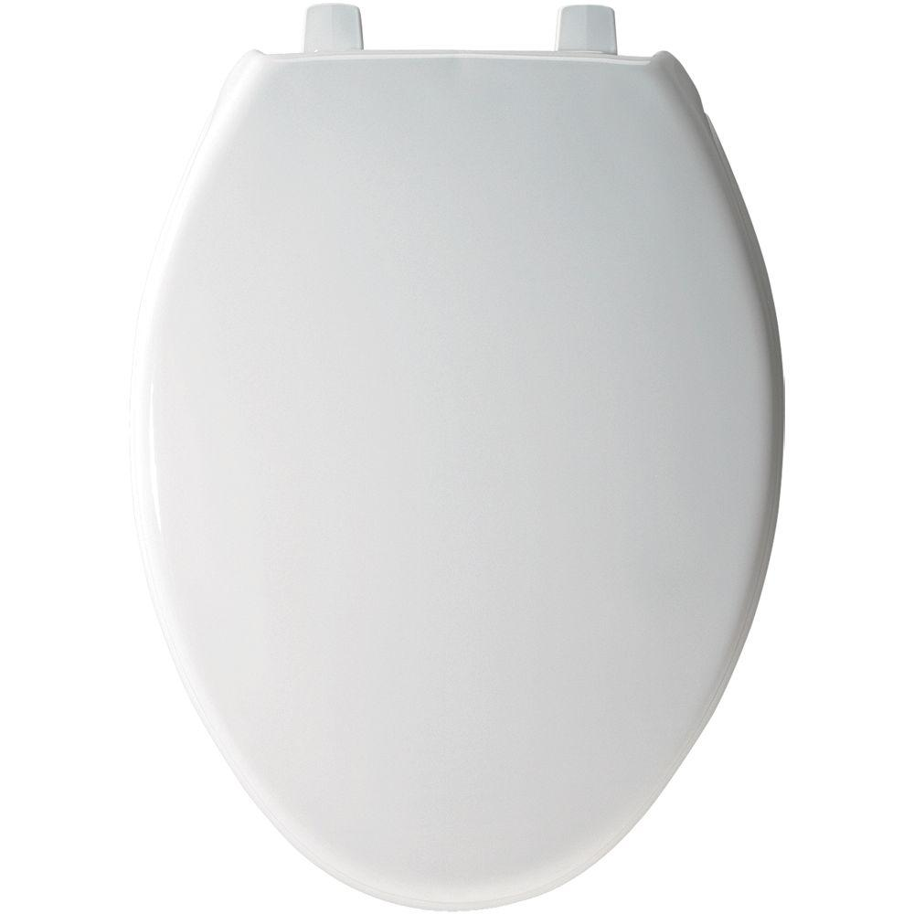 self closing toilet seat lid. BEMIS Elongated Closed Front Toilet Seat in White 1900SS 000  The