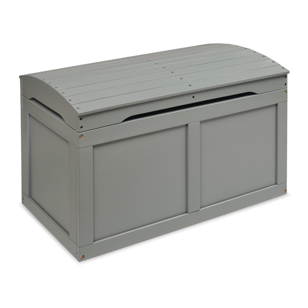 Gray Barrel Top Toy Chest Trunk
