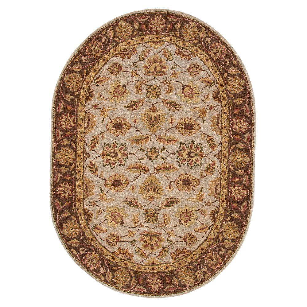 Home Decorators Collection Old London Beige 4 ft. 6 in. x 6 ft. 6 in. Oval Area Rug