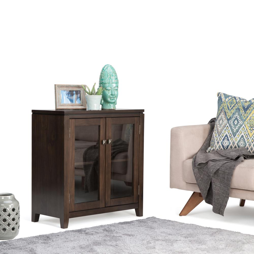 Simpli Home Cosmopolitan Coffee Brown Storage Cabinet