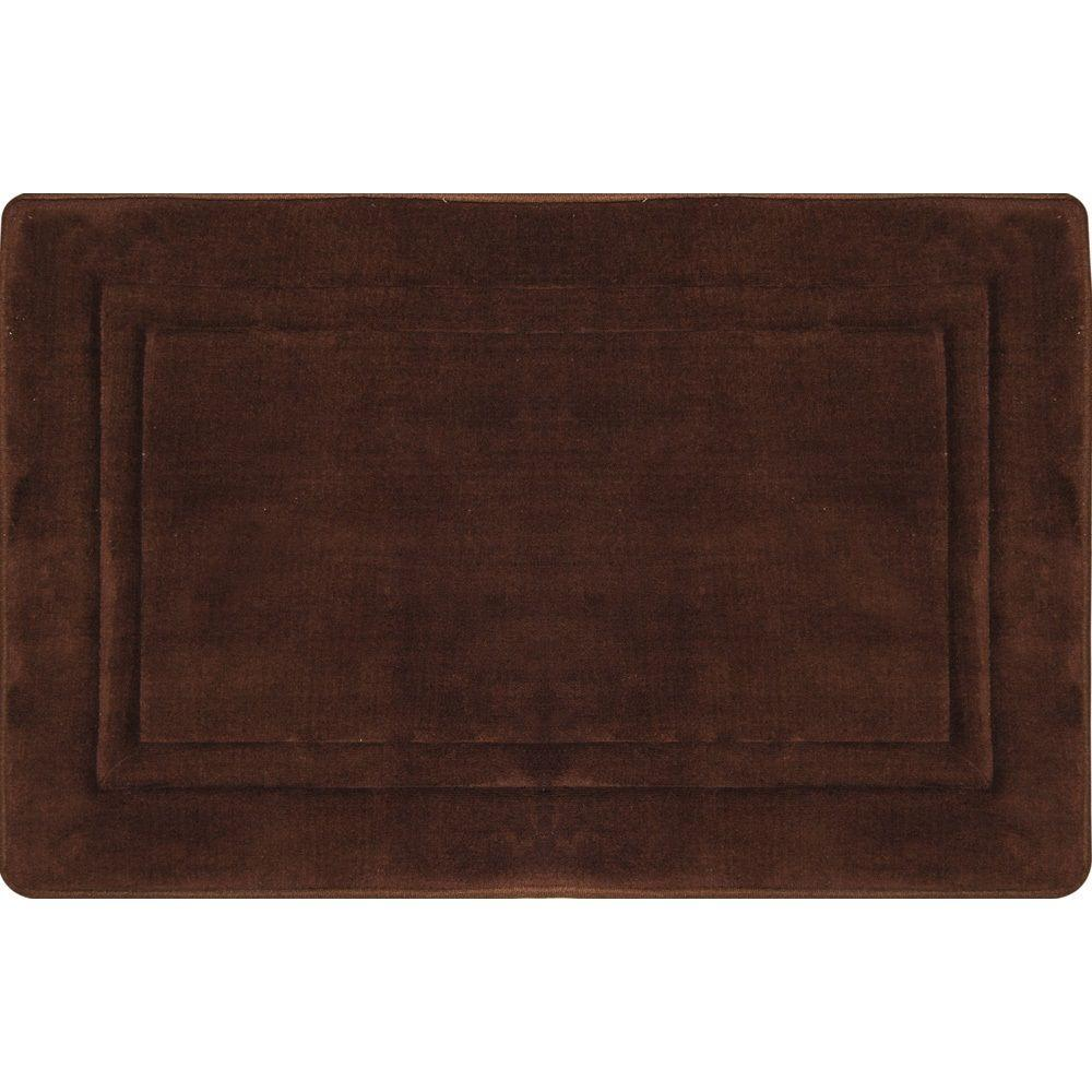 Spa Retreat Racetrack Chocolate 20 in  x 30 in  Bath Mat. Bath Rugs   Mats   Mats   The Home Depot