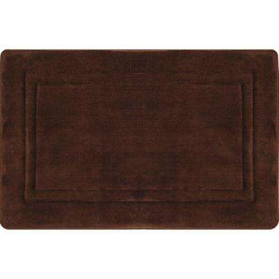 Spa Retreat Racetrack Chocolate 20 in. x 30 in. Bath Mat