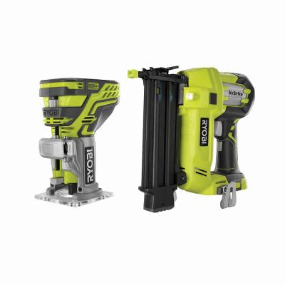 18-Volt ONE+ AirStrike 18-Gauge Cordless Brad Nailer with 18-Volt ONE+ Cordless Fixed Base Trim Router (Tools Only)