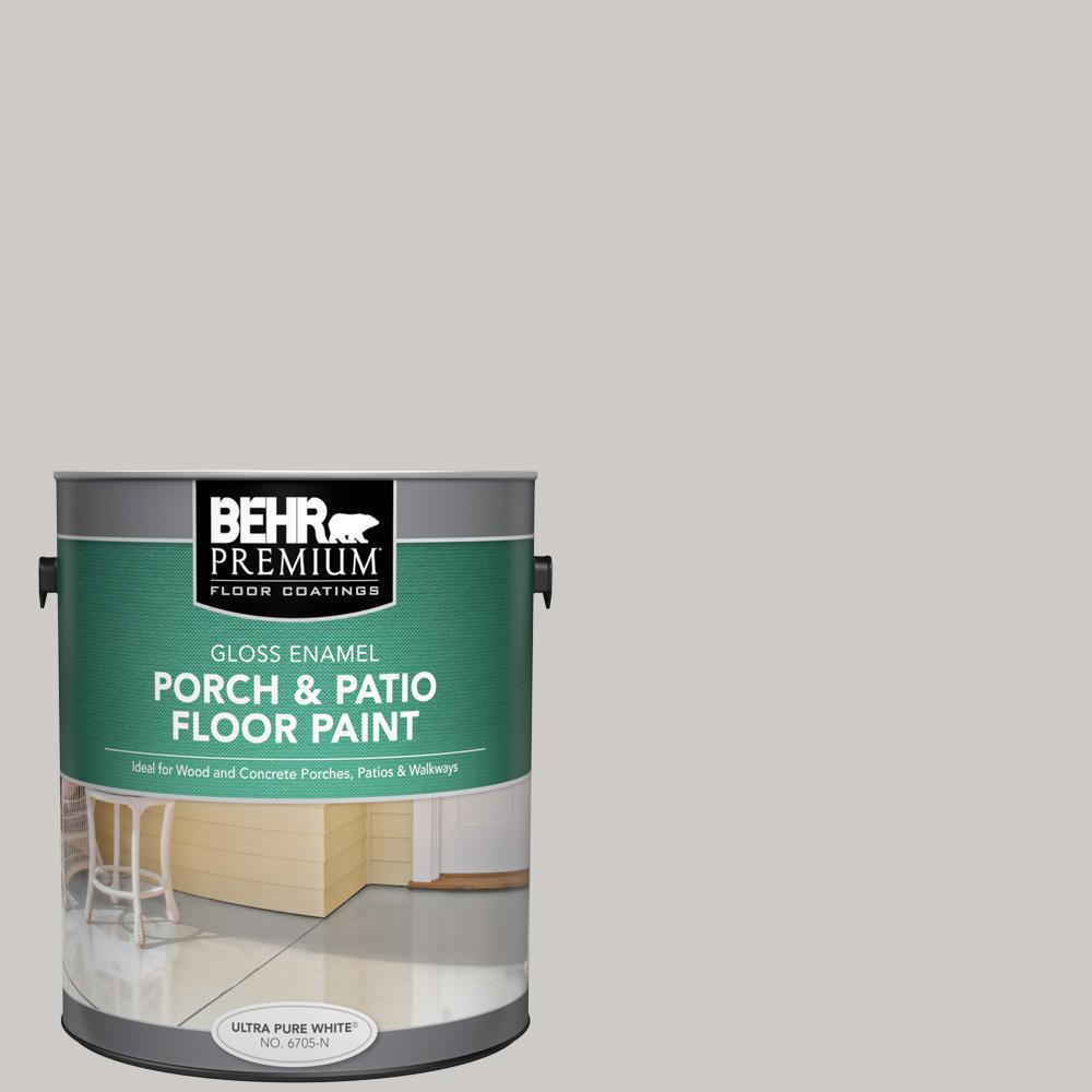 Behr Premium 1 Gal Ppu26 10 Chic Gray Gloss Enamel