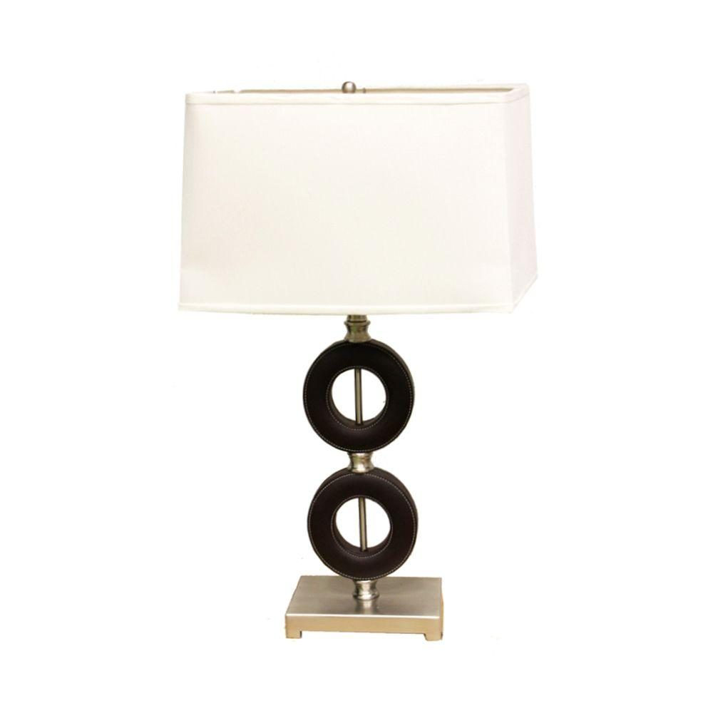 ORE International 27 In. Dark Espresso Table Lamp