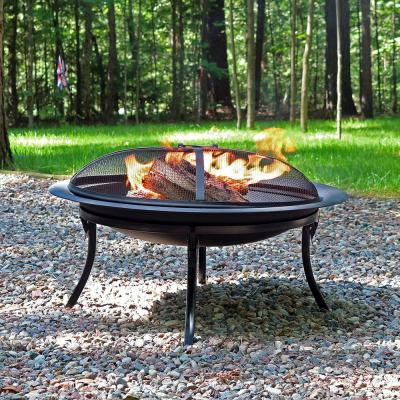29 in. x 24 in. Steel Portable Folding Wood Burning Fire Pit with Carrying Case and Spark Screen
