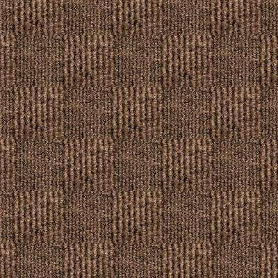 First Impressions City Block Chestnut Texture 24 in. x 24 in. Carpet Tile (15 Tiles/Case)
