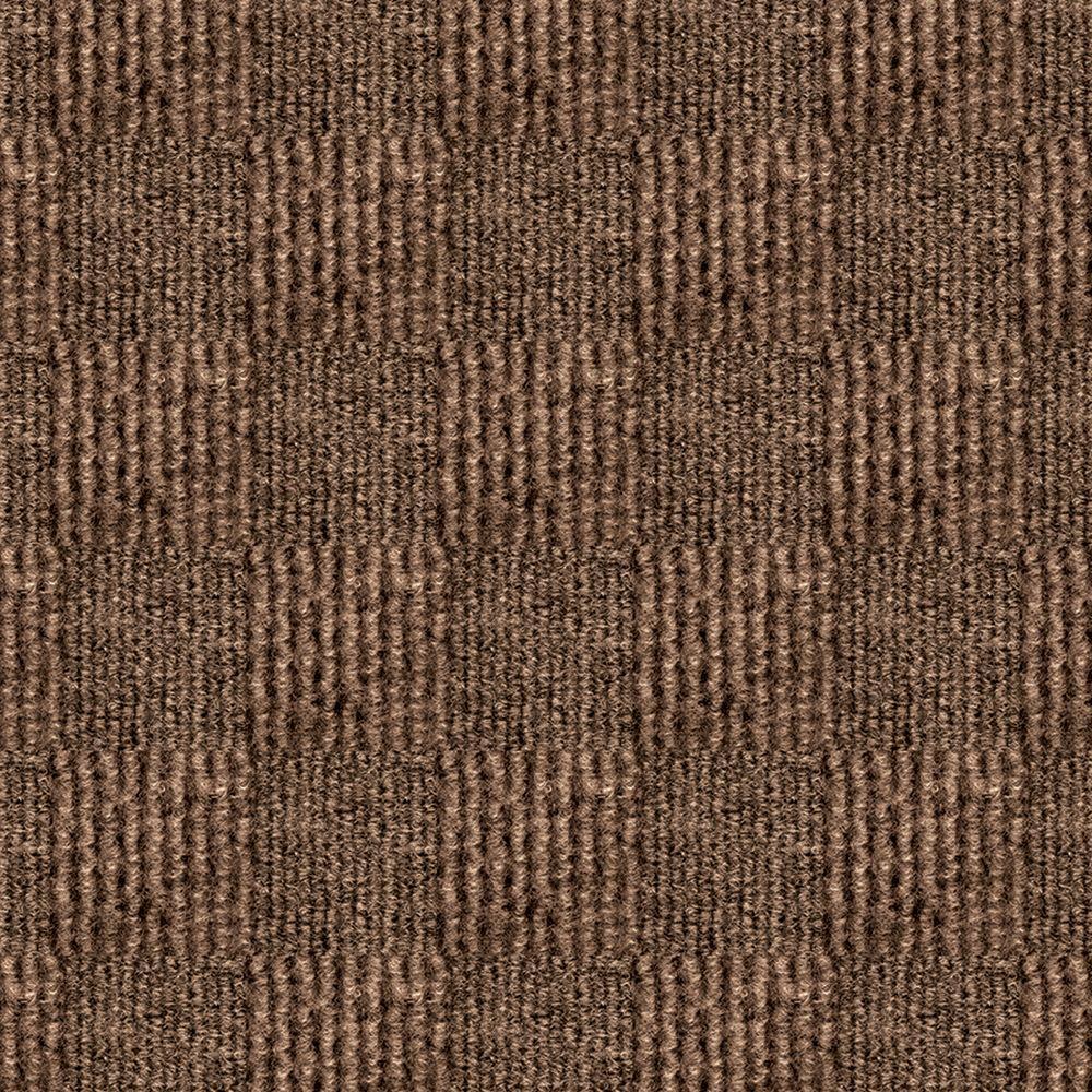 First Impressions City Block Chestnut Texture 24 In X Carpet Tile 15 Tiles Case 7cdmn2915pk The Home Depot