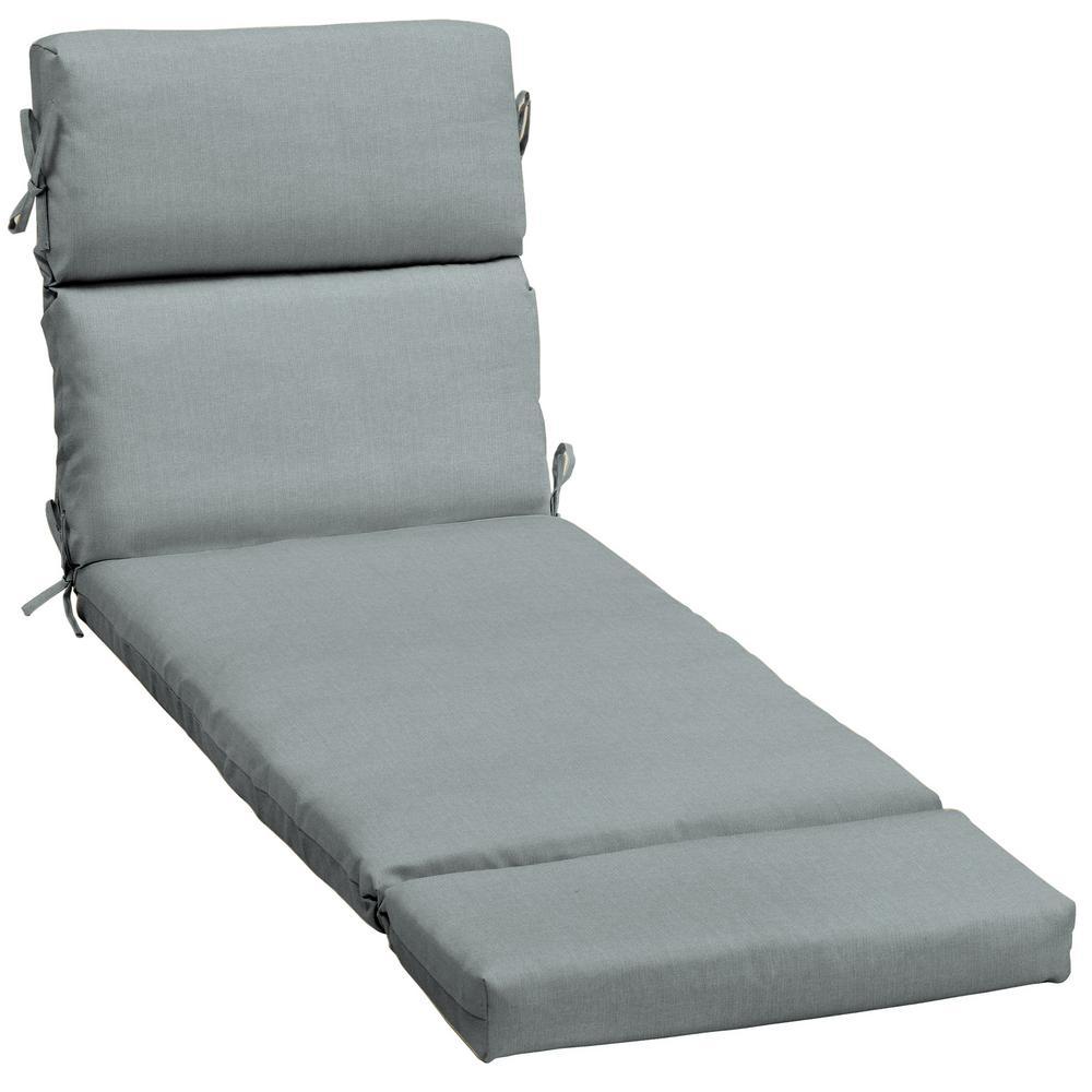 23 x 73 Sunbrella Cast Mist Outdoor Chaise Lounge Cushion