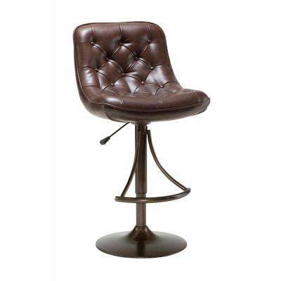 Aspen Adjustable Height Copper Cushioned Bar Stool