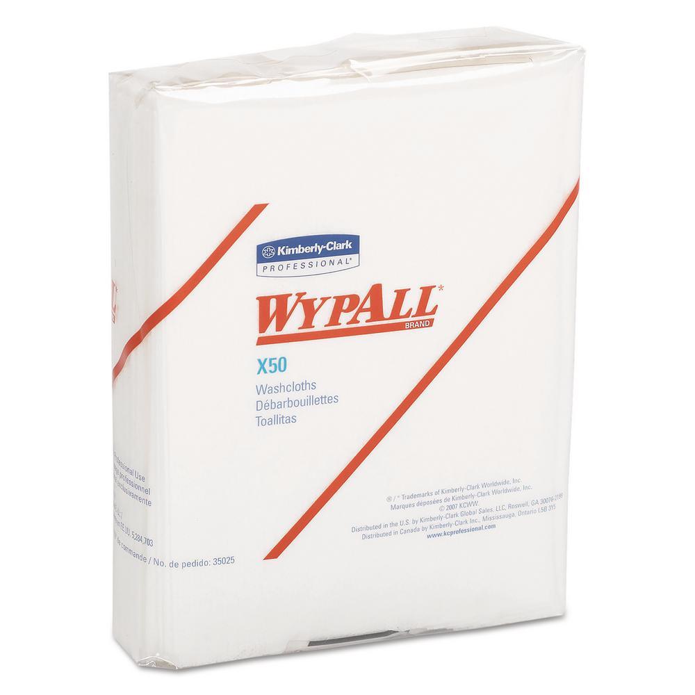 10 x 12 1/2 1/4 Fold X50 Wipers, White, 26/Pack, 32 Packs Per Carton