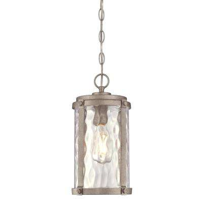 Armin Weathered Steel 1-Light Outdoor Hanging Pendant