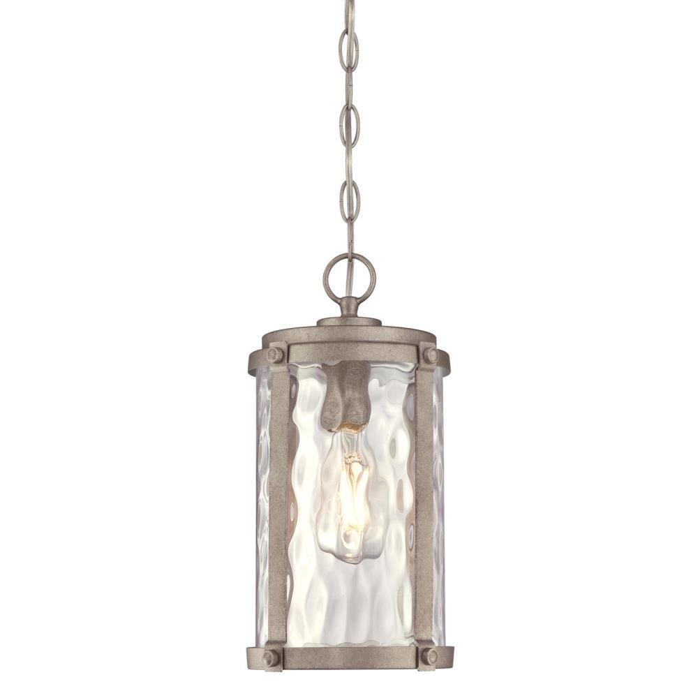 Armin Weathered Steel 1-Light Outdoor Hanging Pendant