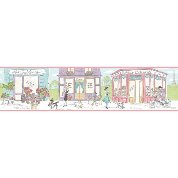 York Wallcoverings Waverly Kids Ooh La La Wallpaper Border WK6821BD