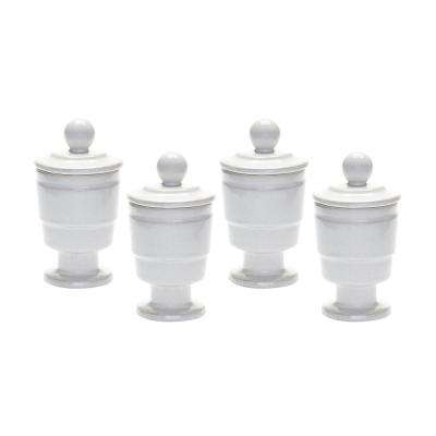 White Polar Filled Votive (Set of 4)